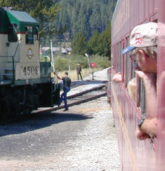 Shunting at the wye in Smith's Ferry, Idaho Northern & Pacific