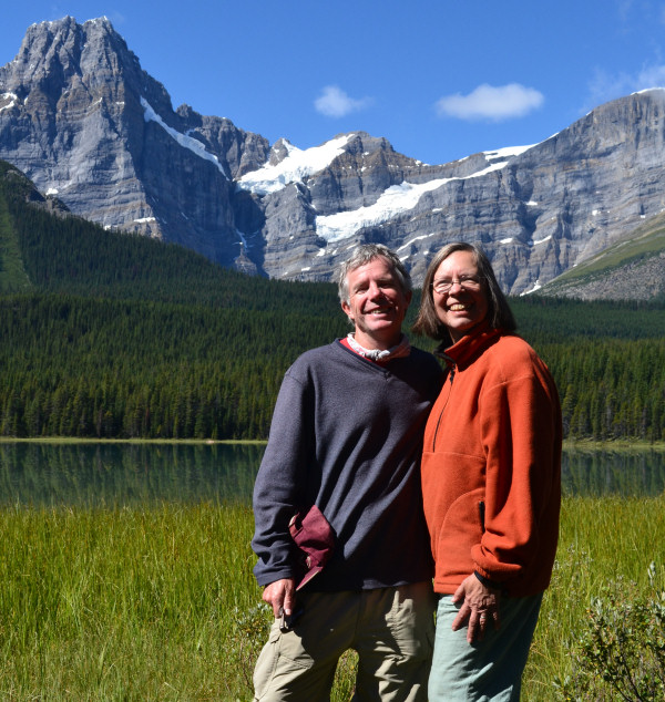 Tom and Jeanette in the Canadian Rockies, 2012