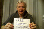 Julian Assange, image from Democracy Now!'s fundraising email