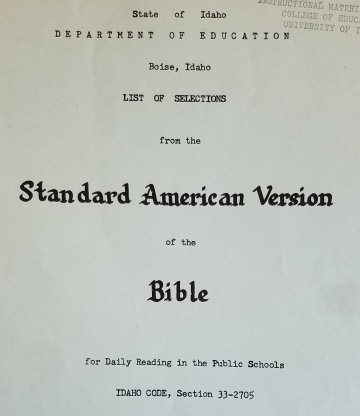 Cover of State Board of Education booklet