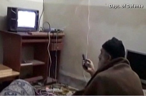 DOD still from Bin Laden's home video