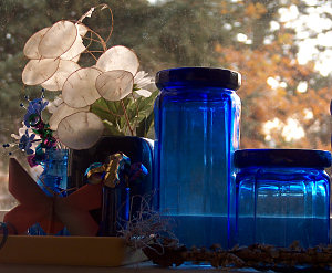 Blue Bottle still life, 2011
