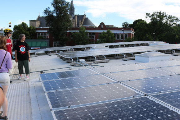 Solar panels on the Boise Co-op roof
