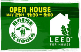 Boise School District poster for the open house