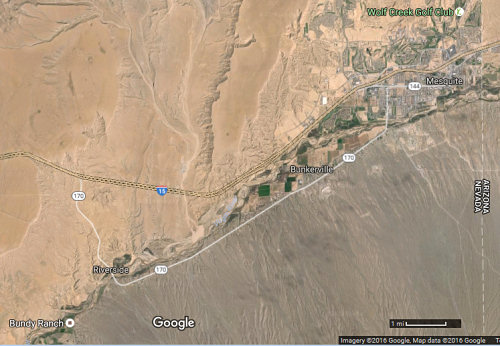 SE corner of Nevada, from Google Maps earth view