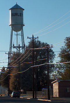 Burley, Idaho water tower, at Donna and Heywood's studio