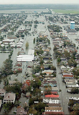 Coast Guard photo of New Orleans after Katrina