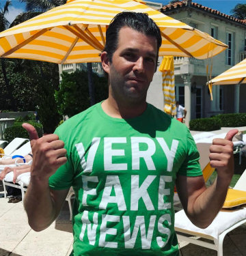 Donald J. Trump Jr.'s homage to the family's secret sauce, Apr. 2017