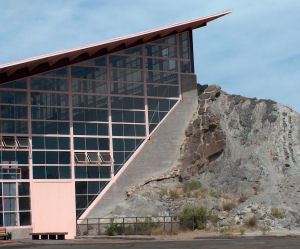 The NPS building over the Douglass Quarry face