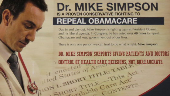 Rep. Mike Simpson's 2014 campaign mailer