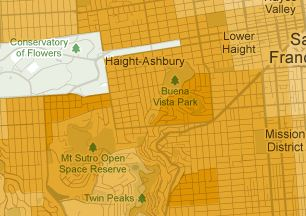 Snippet of the map of 'Bachelor's degree or higher', over SF