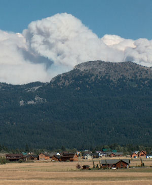 Fire in the Boulder White Clouds