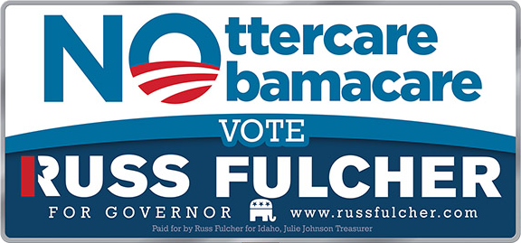 Image of Fulcher's billboard, used in his campaign publicity