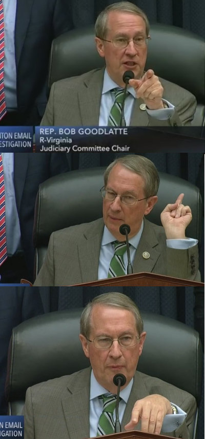 Screen shots from CSPAN3