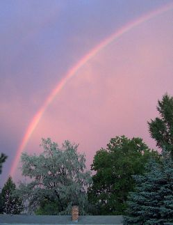 Big rainbow over our house tonight
