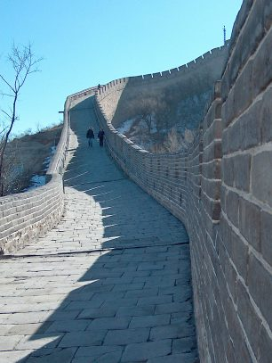 On the Badaling section of the Great Wall, Nov. 2003
