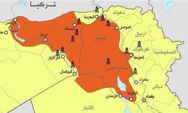 Vox picked up the ISIS? image of their territory that Aaron Zelin tweeted
