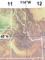 Idaho's UTM zones and the 114th meridian