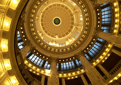 Inside Idaho's Capitol rotunda