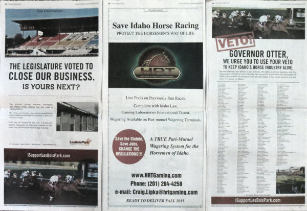 3 full page ads last week