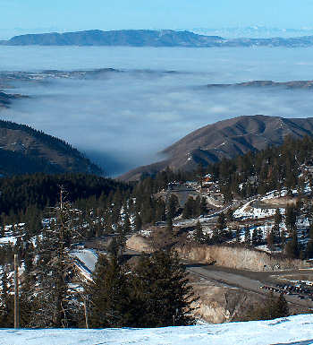 The inversion from the slopes of Bogus Basin