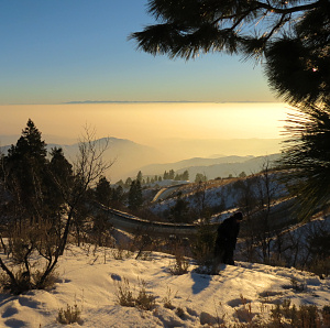 Above the inversion, along Bogus Basin Rd