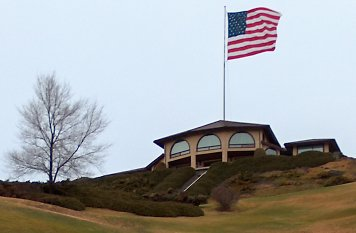 JR Simplot's house is big; his flag is *really* big.
