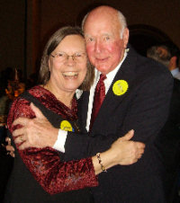 Jeanette Ross and Cecil Andrus at the 2008 Frank Church Banquet