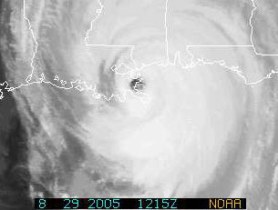 Hurricane Katrina, making landfall on 29.Aug