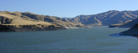 Morning wind and the first day of fall over Lucky Peak Lake, 2003
