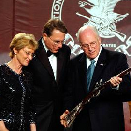 Dick Cheney's NRA award, Jeff Swensen / Getty Images