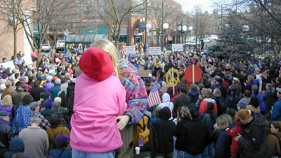 Moscow, Idaho Peace Rally, Feb. 15, 2003