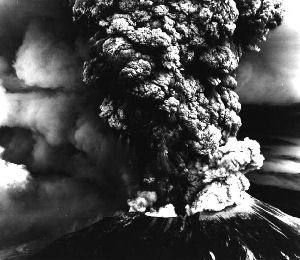 US Forest Service Photo of Mt. St. Helens erupting