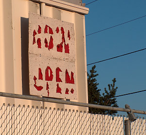 Decaying sign, Chinden Blvd., 2012