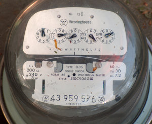 Our analog electric meter, taken out of service