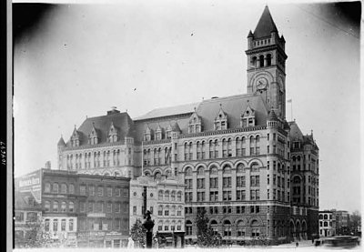 Exterior of Old Post Office, Washington D.C., 1910