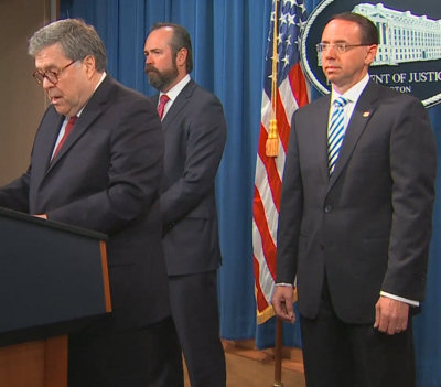 Rosenstein at the Barr press con