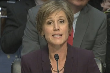 Former Acting Attorney General Sally Yates testifies