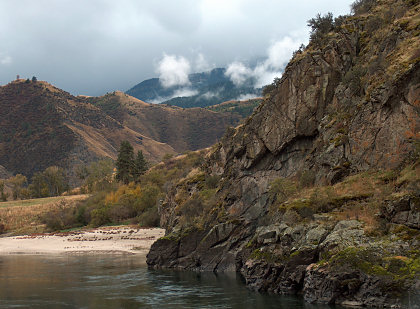 At the Salmon River Geologic Point