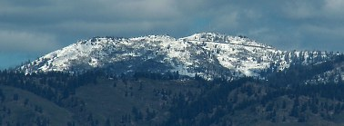 Fresh mid-May snow on Schaeffer Butte, above Boise