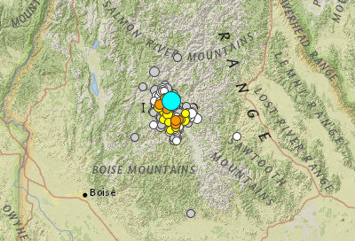 Earthquakes view from USGS
