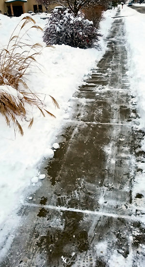 Shoveled sidewalk, no big deal