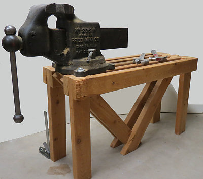 My 6in. Reed Mfg. vise and its unique bench
