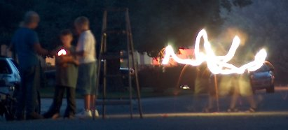 4th of July fun with sparklers and other burning things