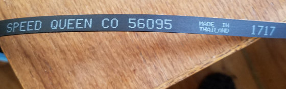Photo of the belt's label
