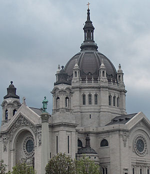 St. Paul Cathedral, under mid-summer clouds