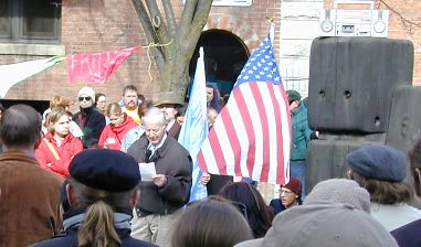 Stan Thomas at the Peace Rally, Feb. 15, 2003