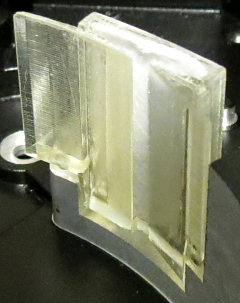 Photo of a '3D printed' (stereolithography) prototype component