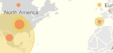 snippet from the NYT interactive swine flu map