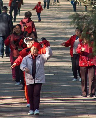 Tai Chi at the Temple of Heaven park